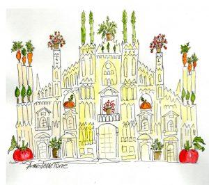 Il mio acquerello dedicato a Milano