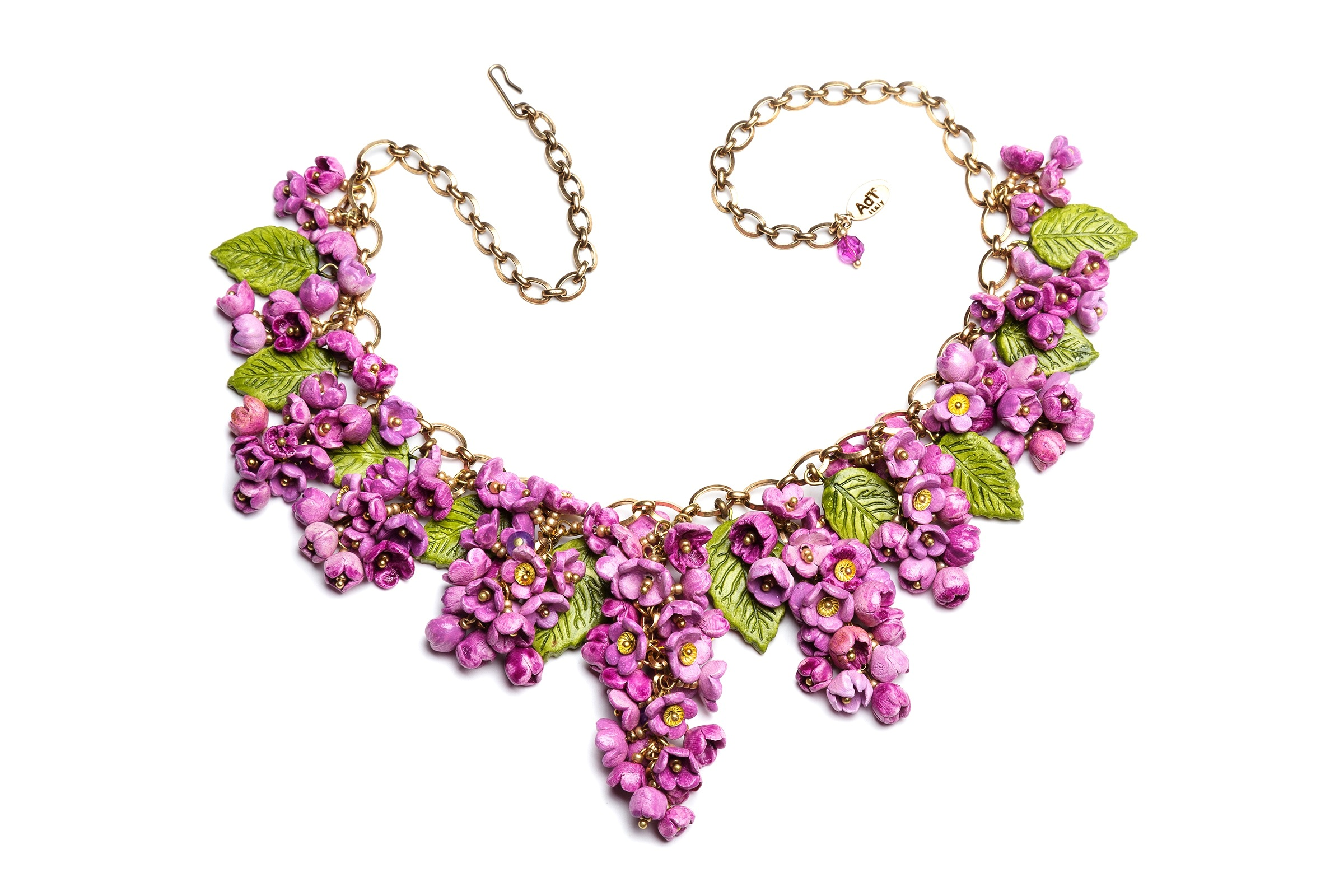 Lilac flower necklace